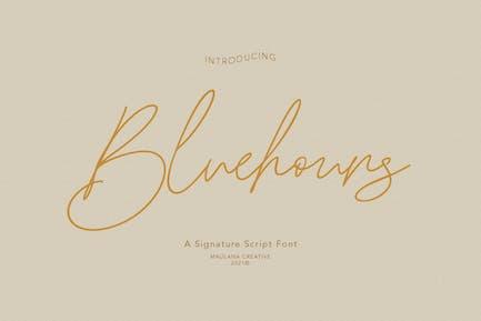 Bluehours Signature Font