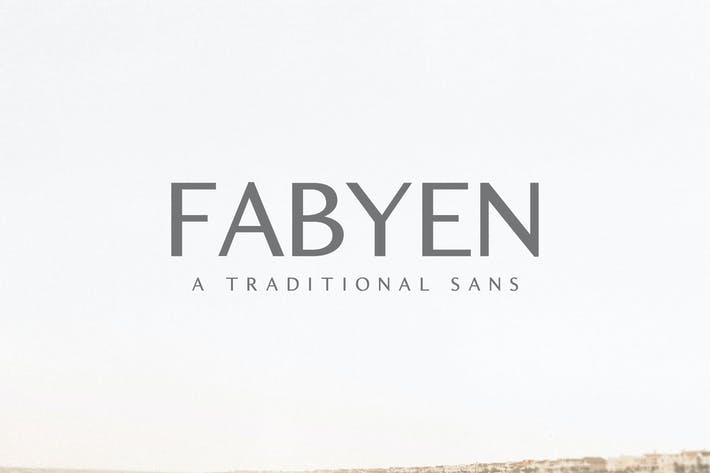 Thumbnail for Fabyen A Traditional Sans Font Pack