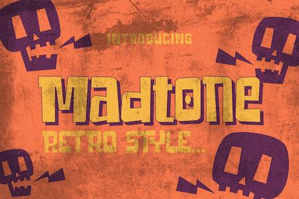 Madtone Retro Font