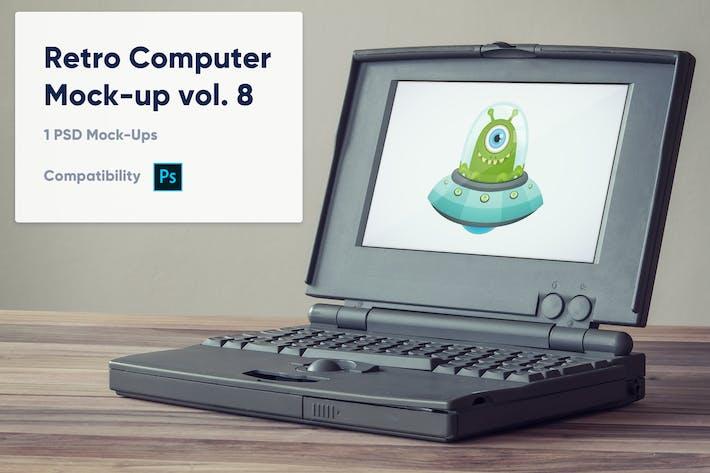 Thumbnail for 1 Retro Computer Mockup vol. 8