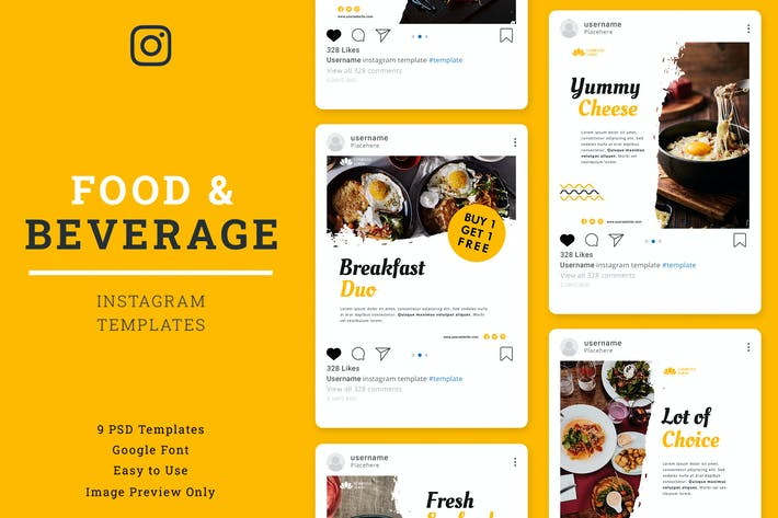 Cover Image For Food & Beverage Instagram Post Template