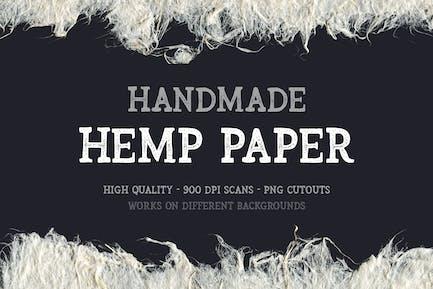 Handgefertigte Hanf-Papierausschnitte