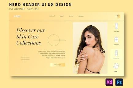 Beauty Clinic – Hero Header Website Template