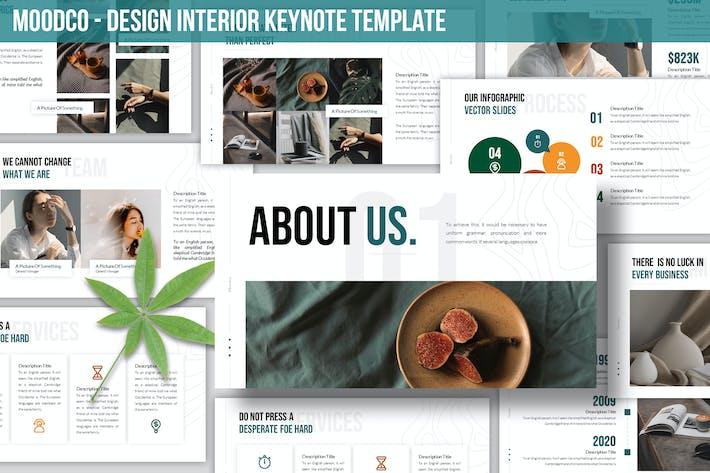Thumbnail for Moodco - Дизайн интерьера Шаблон Keynote