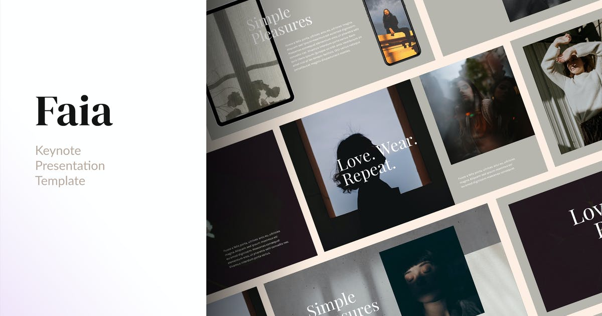 Download FAIA - Clean & Elegant Keynote Template by Slidehack
