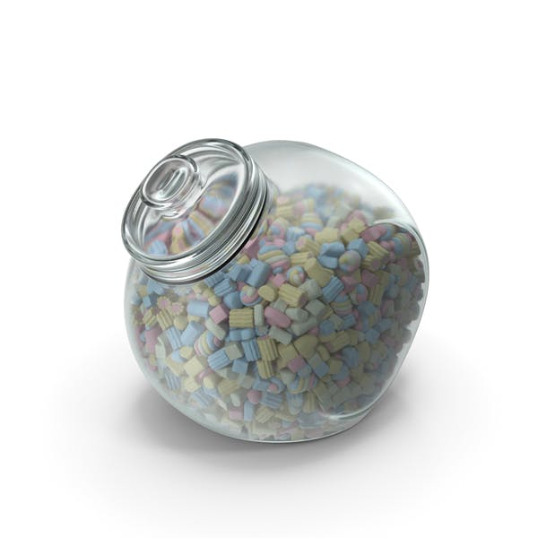 Spherical Jar with Mixed Marshmallows
