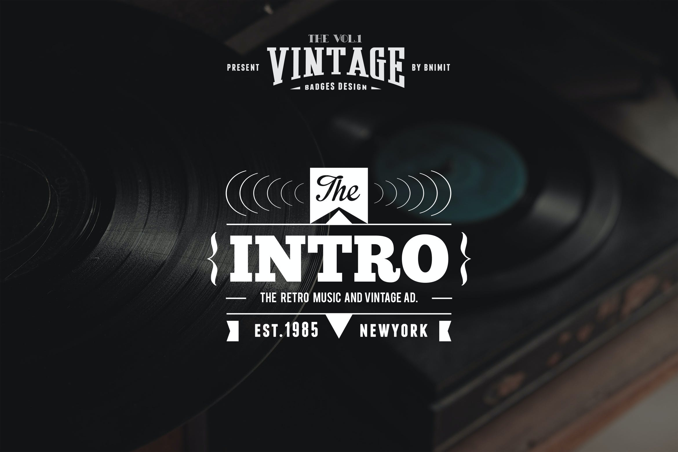 Artsy Vintage Retro Insignia and Logos Vol 01 by designhatti on