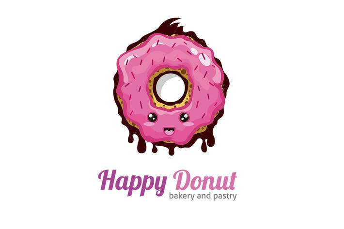 Thumbnail for Happy Donut Logo Template