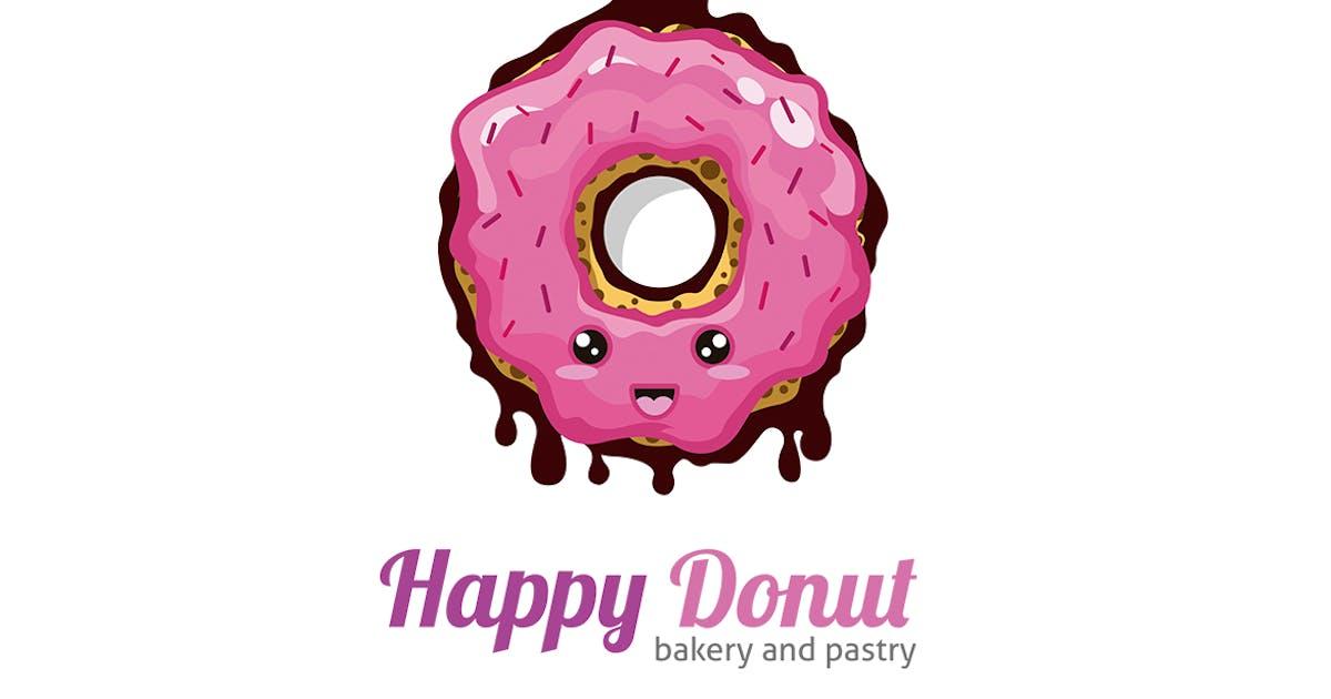 Happy Donut Logo Template by Odin_Design