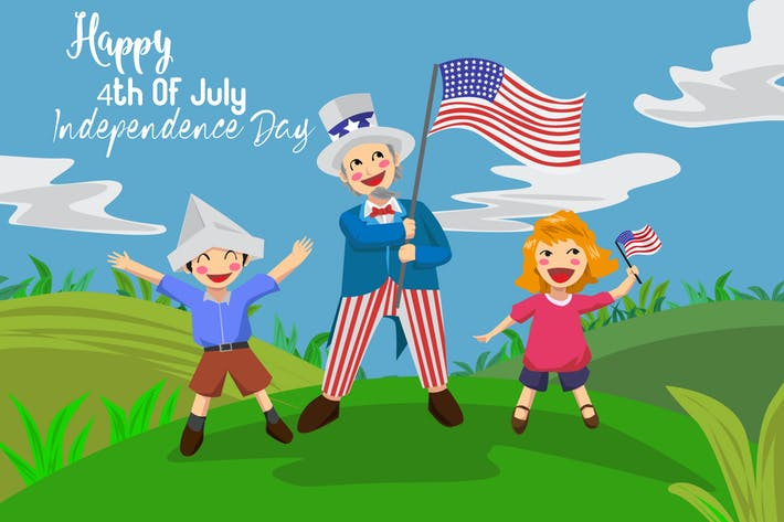 Thumbnail for Happy 4th July - Vector Illustration