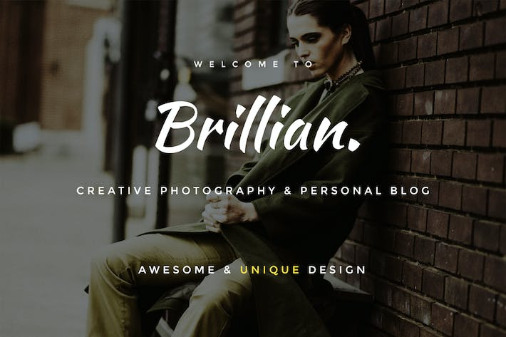 Cover Image For BRILLIAN - Personal, Blogging HTML Template