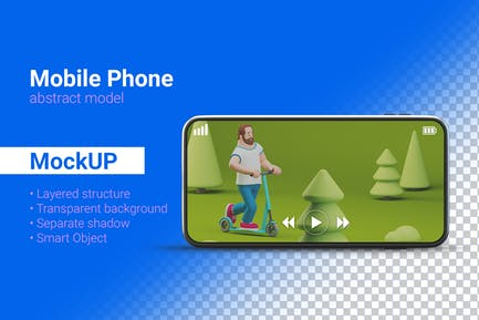 Smartphone Mockup Handy abstraktes Modell