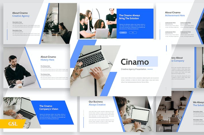 Thumbnail for Cinamo Company Profile - Google Slides