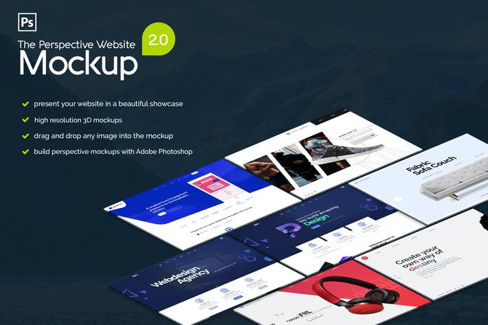 Thumbnail for The Pespective Website Mockup 2.0