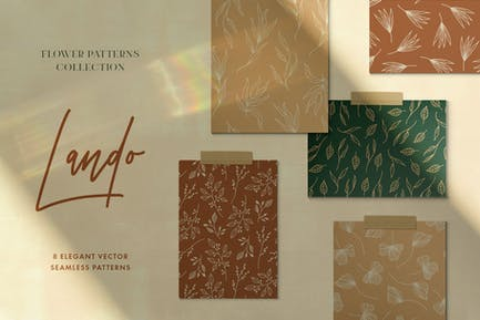 Land & Flower Patterns Collection