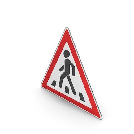 Road Sign Pedestrian Crossing Ahead