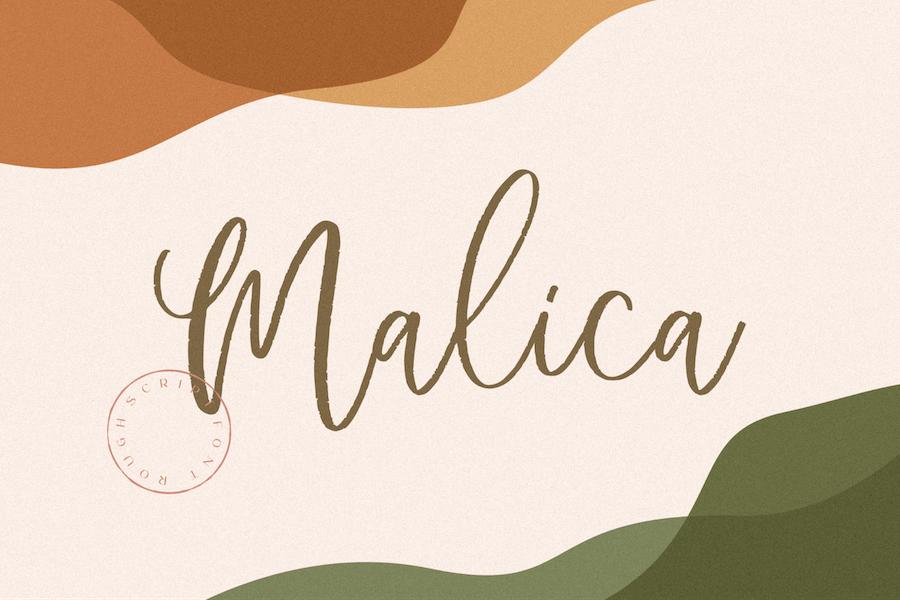 Malica Script Rough