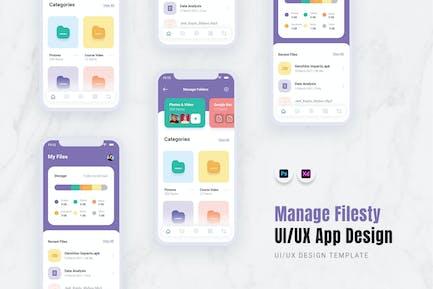 Verwalten der Filesty App Mobile