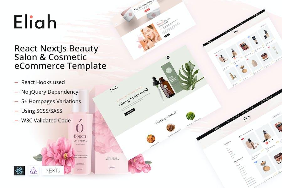 Eliah - React NextJs Beauty & Cosmetic eCommerce