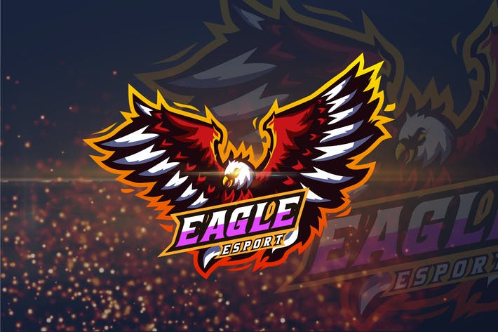 Thumbnail for Eagle - AI and PSD eSport Logo Template