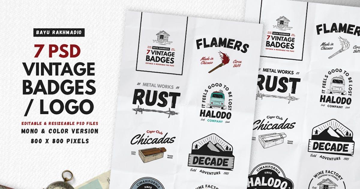Download 7 Vintage Badges / Labels by bayurakhmadio