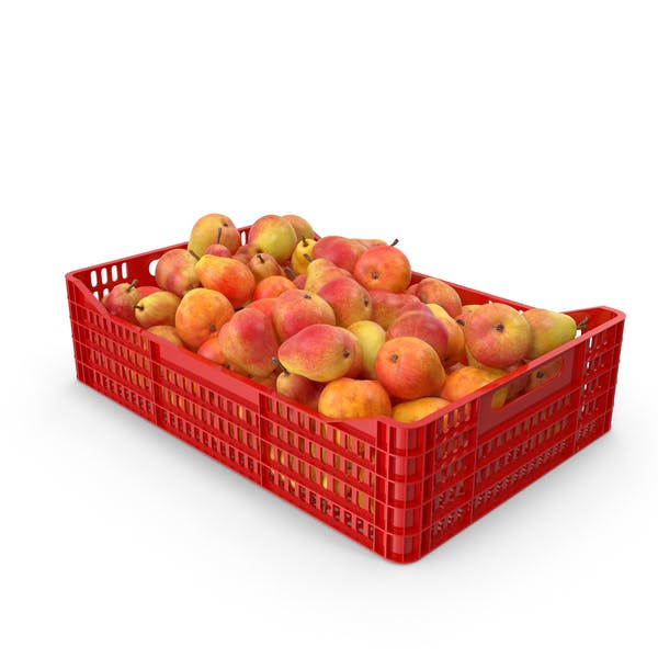 Thumbnail for Pears Red Plastic Crate