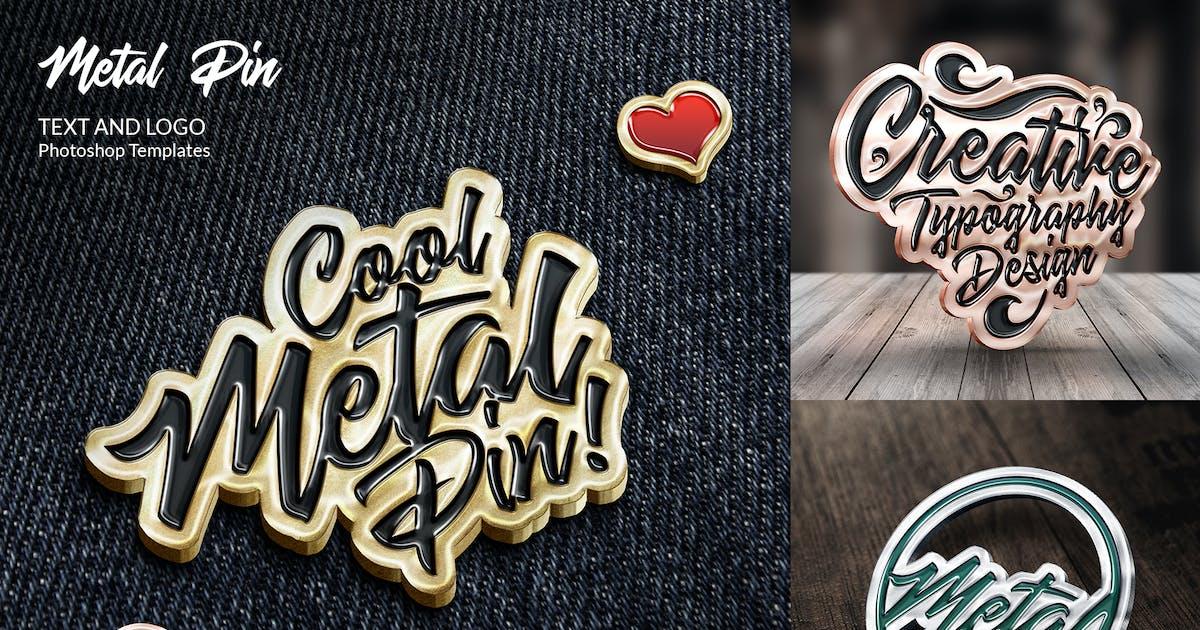 Download Metal Pin – Text and Logo Mockups by Sko4
