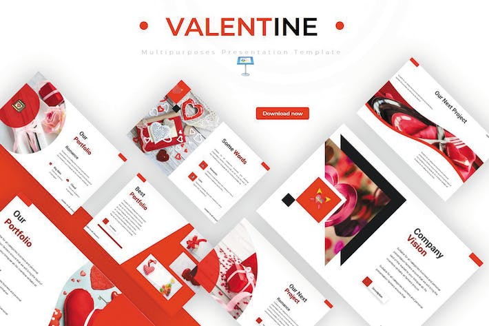 Thumbnail for Valentine - Keynote Template