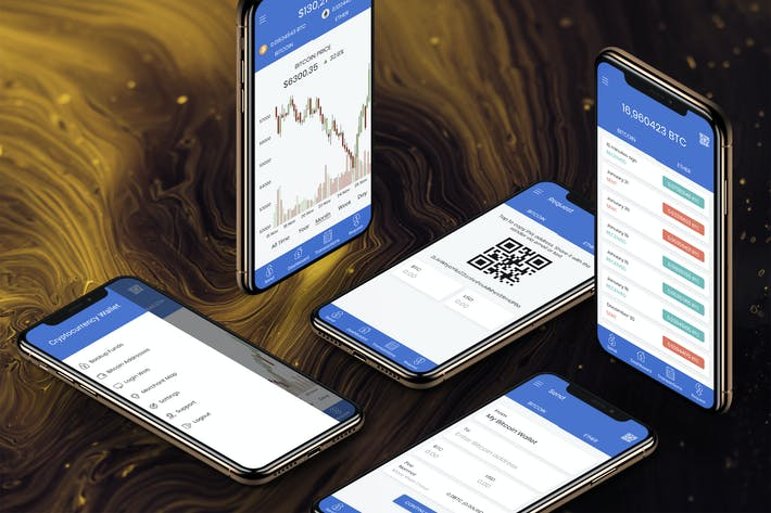 Thumbnail for Crypto Wallet Mobile App Ui - H