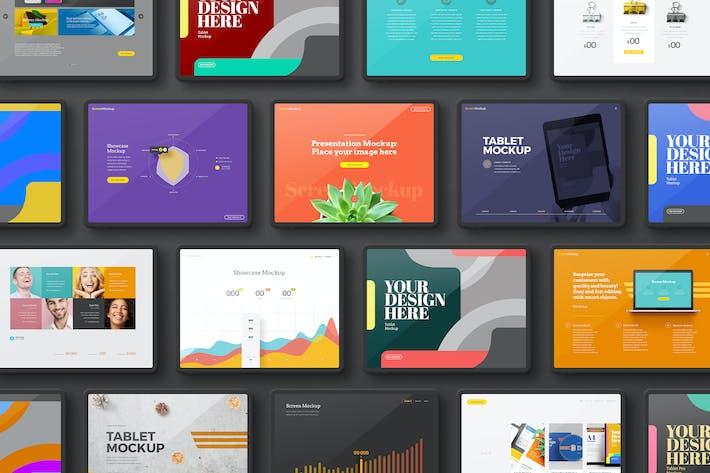 Thumbnail for Tablet Black Landscape Set  Mockup