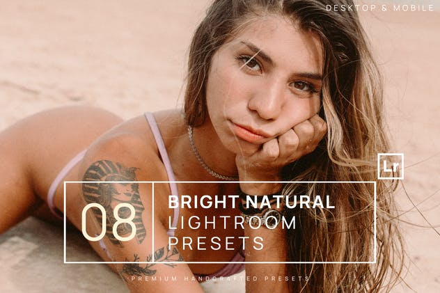 8 Bright Natural Lightroom Presets + Mobile