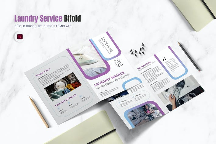 Thumbnail for Brochure Bifold Service de Blanchisserie