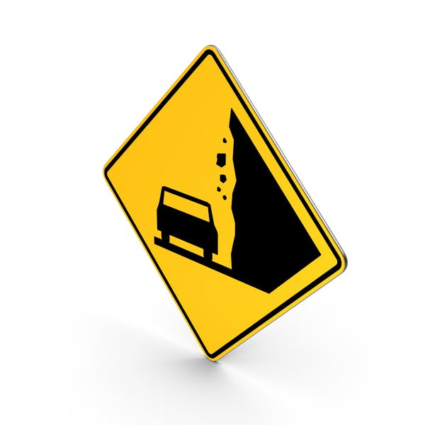 Fallende Felsen California Vermont Road Sign