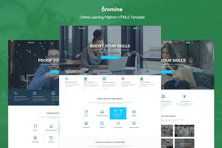 Thumbnail for Bromine - Online Learning Platform HTML5 Template