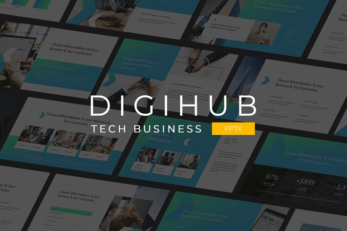 Thumbnail for Digihub - Tech Business Powerpoint Template