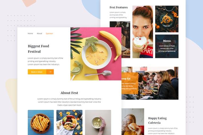 Thumbnail for Food Festival - Email Newsletter