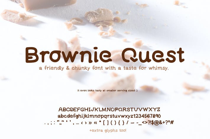 Thumbnail for Brownie Quest mignon Type manuscrit