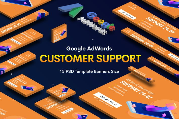 Thumbnail for Customer Support Banners Ad