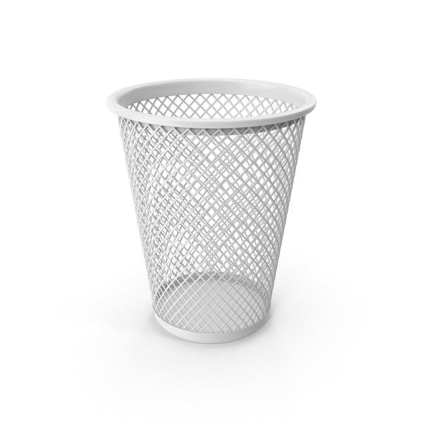 Белая корзина для отходов