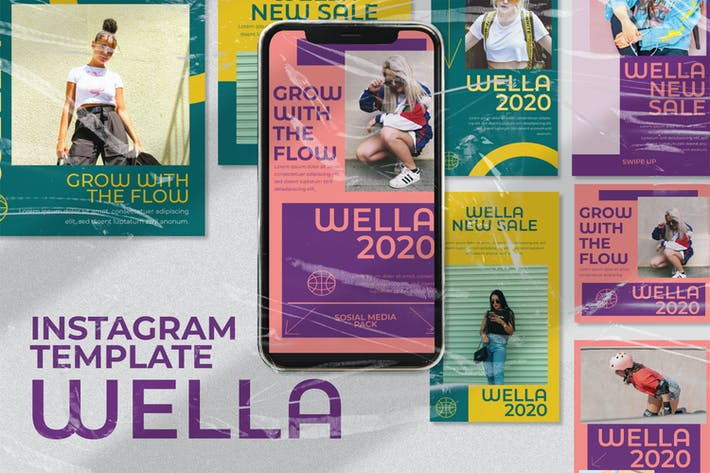 Thumbnail for wella Instagram Template