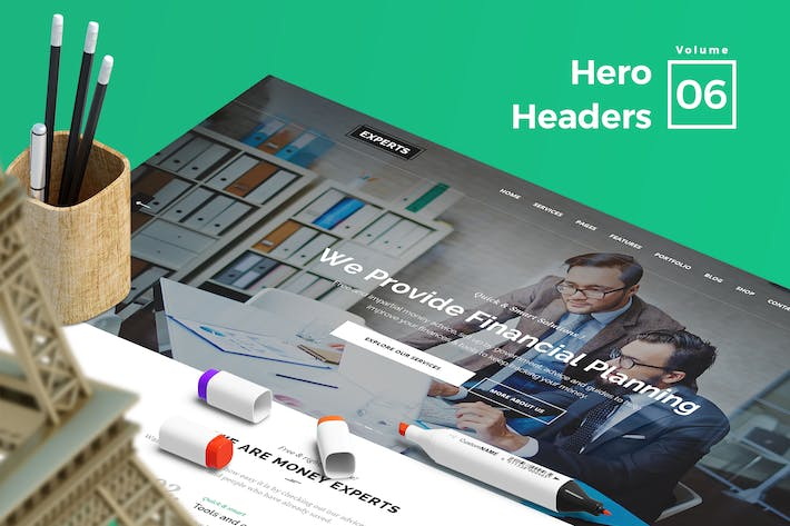 Thumbnail for Hero Headers for Web Vol 06