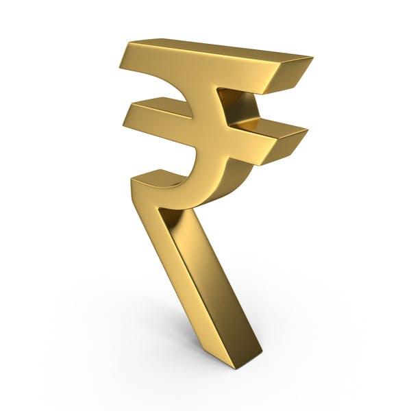 Thumbnail for Символ золотой индийской рупии