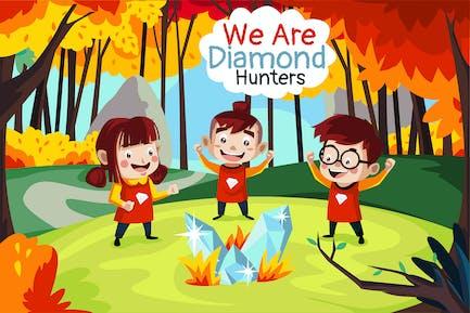 Diamond Hunters - Illustration