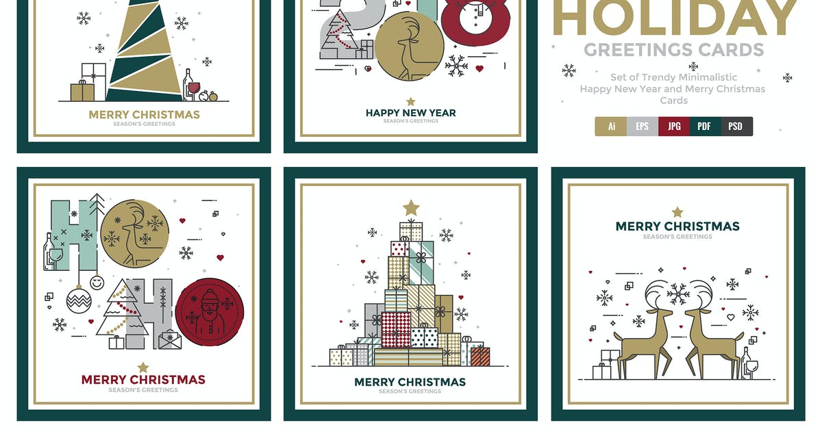 Download Happy New Year and Merry Christmas greeting cards by graphics4u