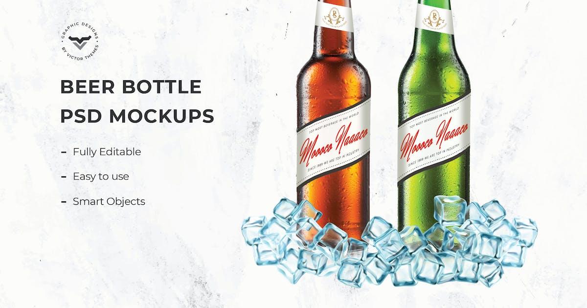 Download Beer Bottle Mockups by VictorThemes