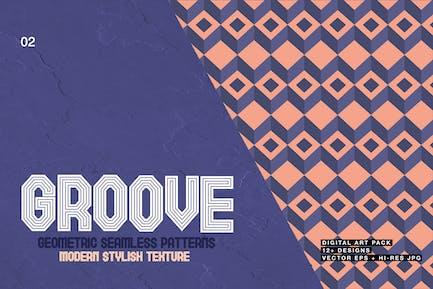 Groove-Geometric Seamless Patterns 02
