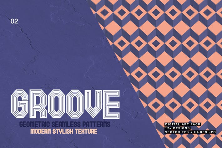 Thumbnail for Groove-Geometric Seamless Patterns 02