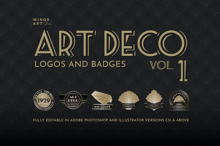 Thumbnail for Retro Art Deco Logo Collection Volume One
