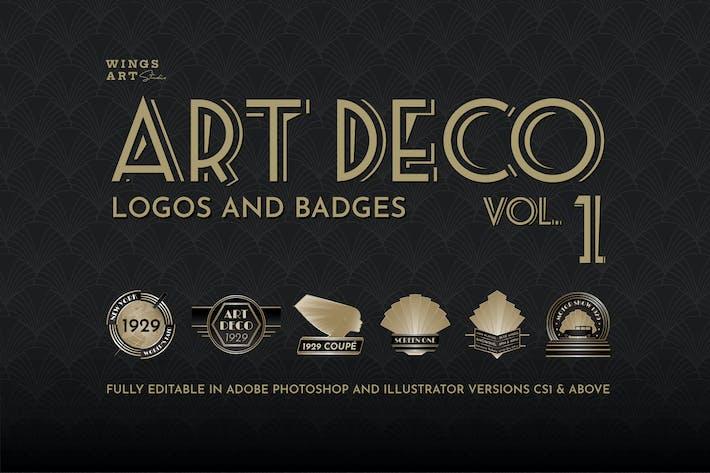 Thumbnail for Retro Art Deco Logo Collection Volume One