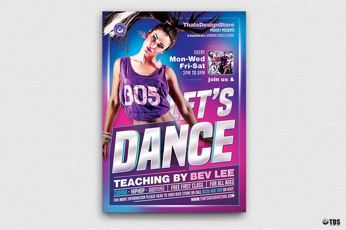 Cover Image For Dance Classes Flyer Template V1